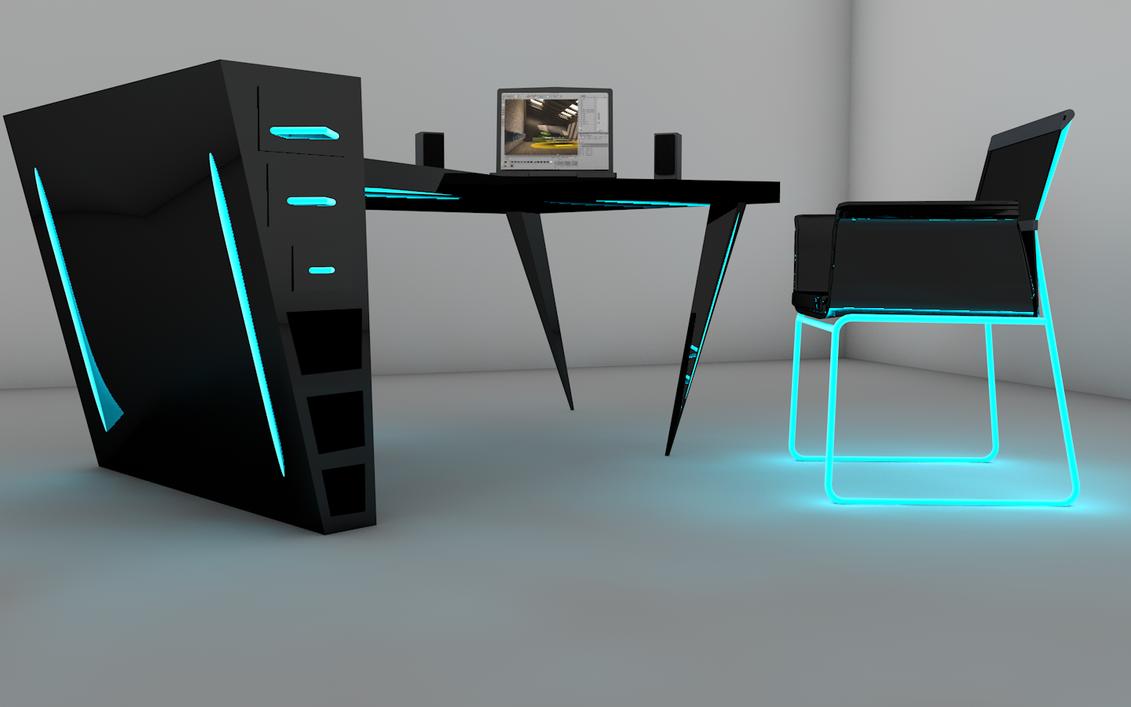 Desk design cinema 4d by hasii puuh on deviantart - Desks by designers ...
