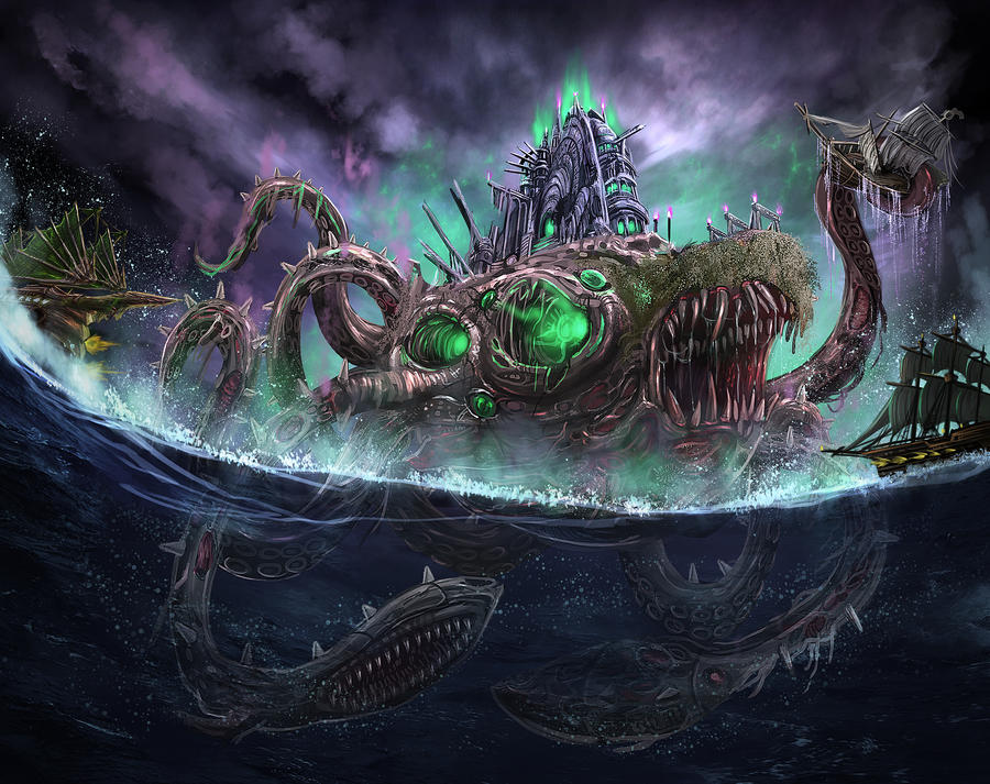 Calamari Necropolis by Delun