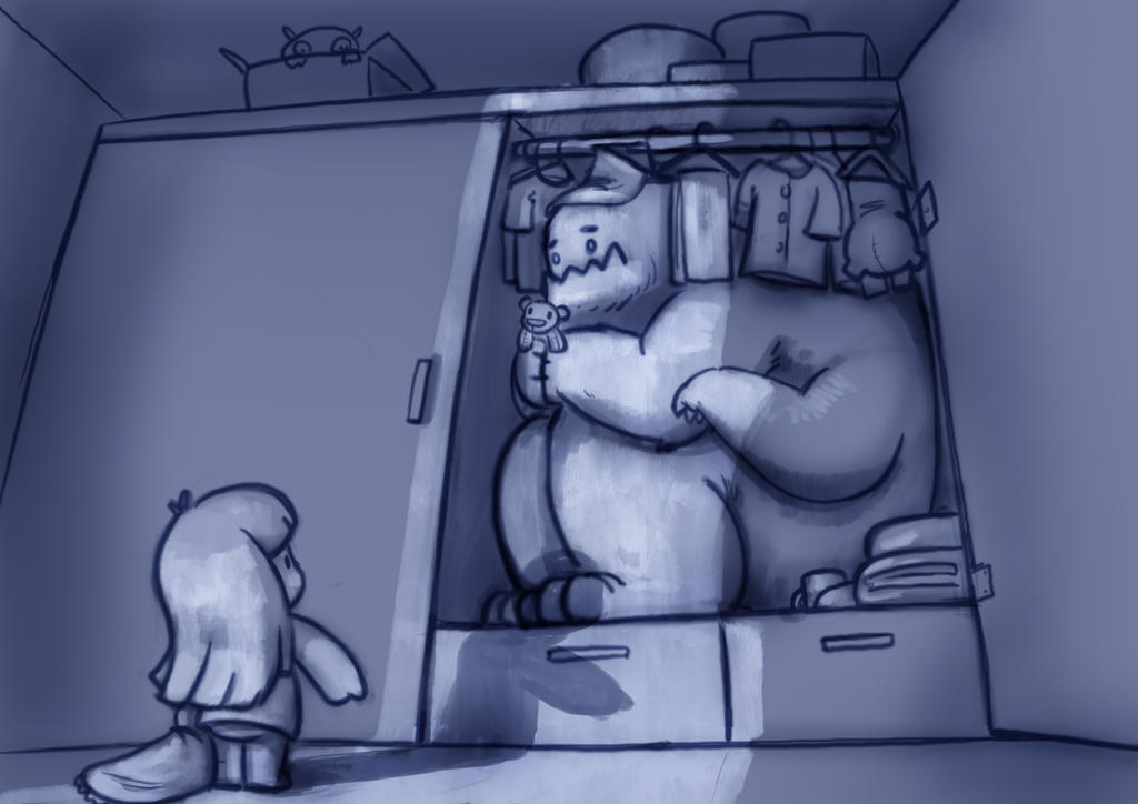 Monster in the closet by Delun