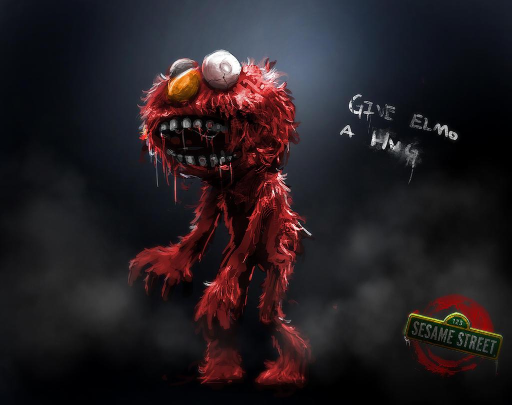 Zombie Sesame Street Elmo By Delun