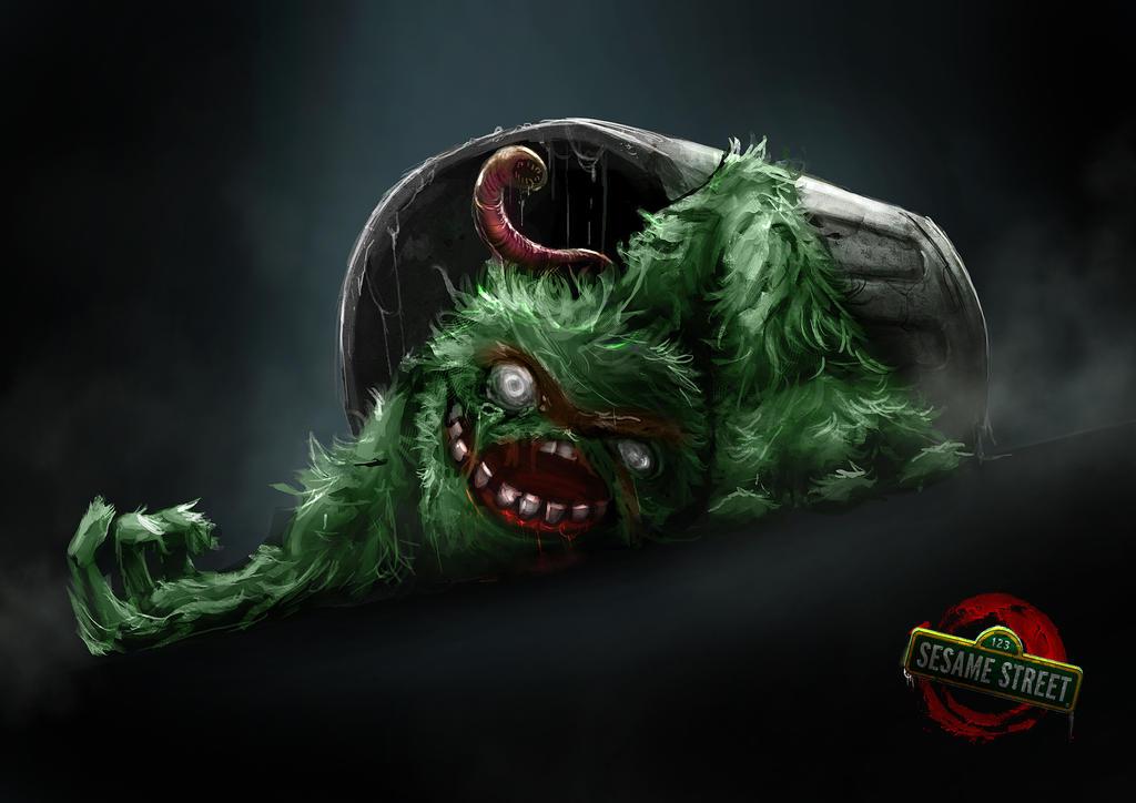 Zombie Sesame Street Oscar By Delun