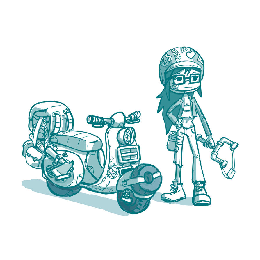 Day 389: Zombie Survivors scooter by Delun