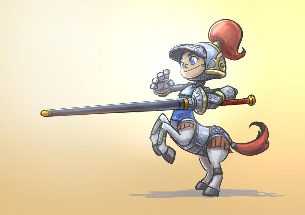 Centaur Knight by Delun