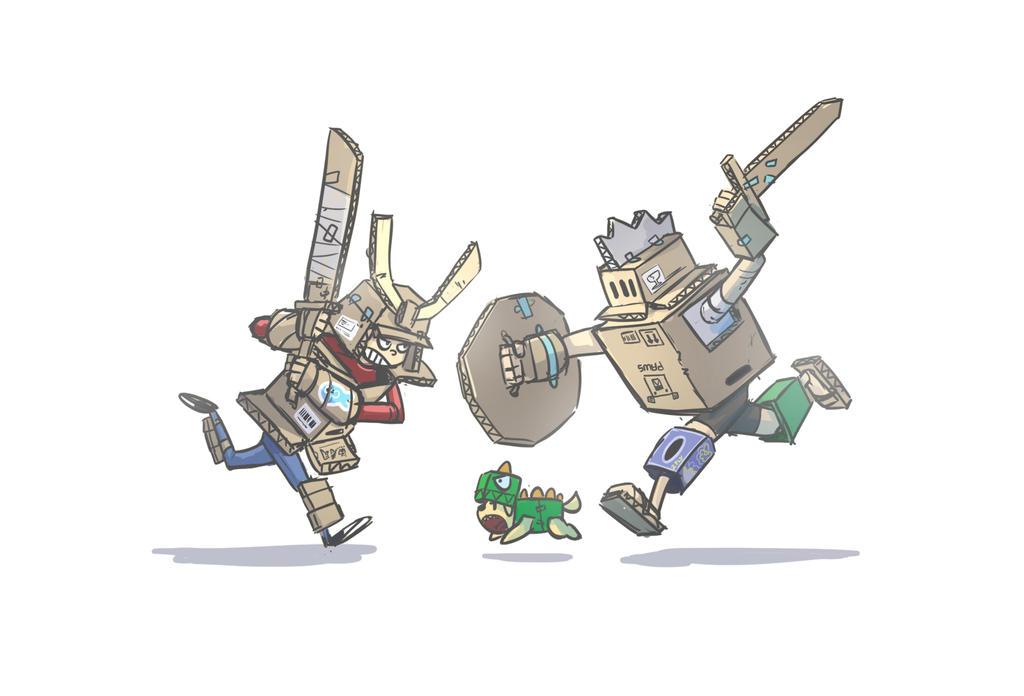 Cardboard war by Delun