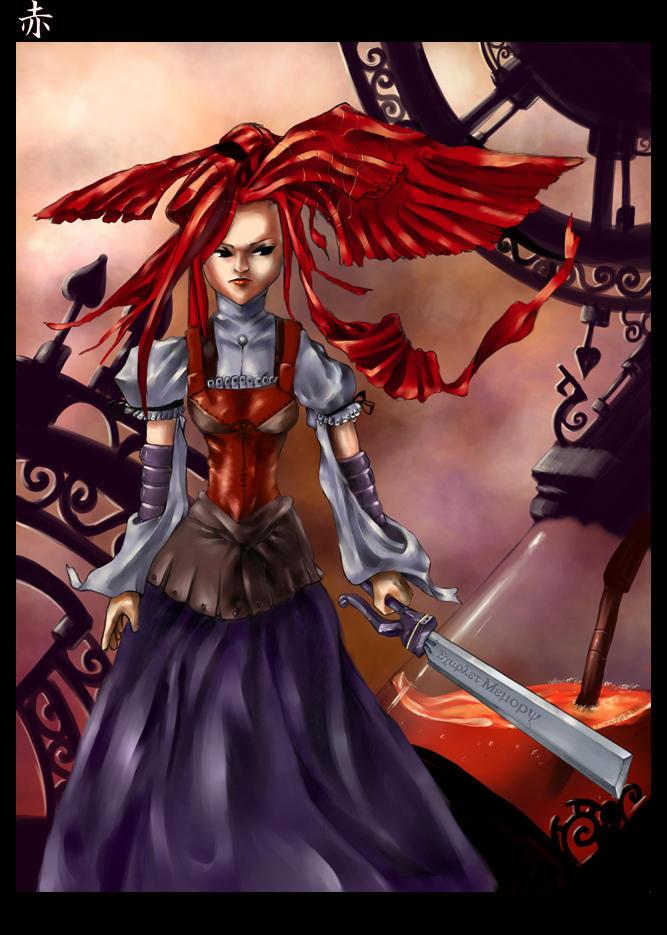 Crimson Maiden by Delun