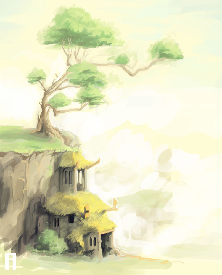 House and tree by merry-zazoue