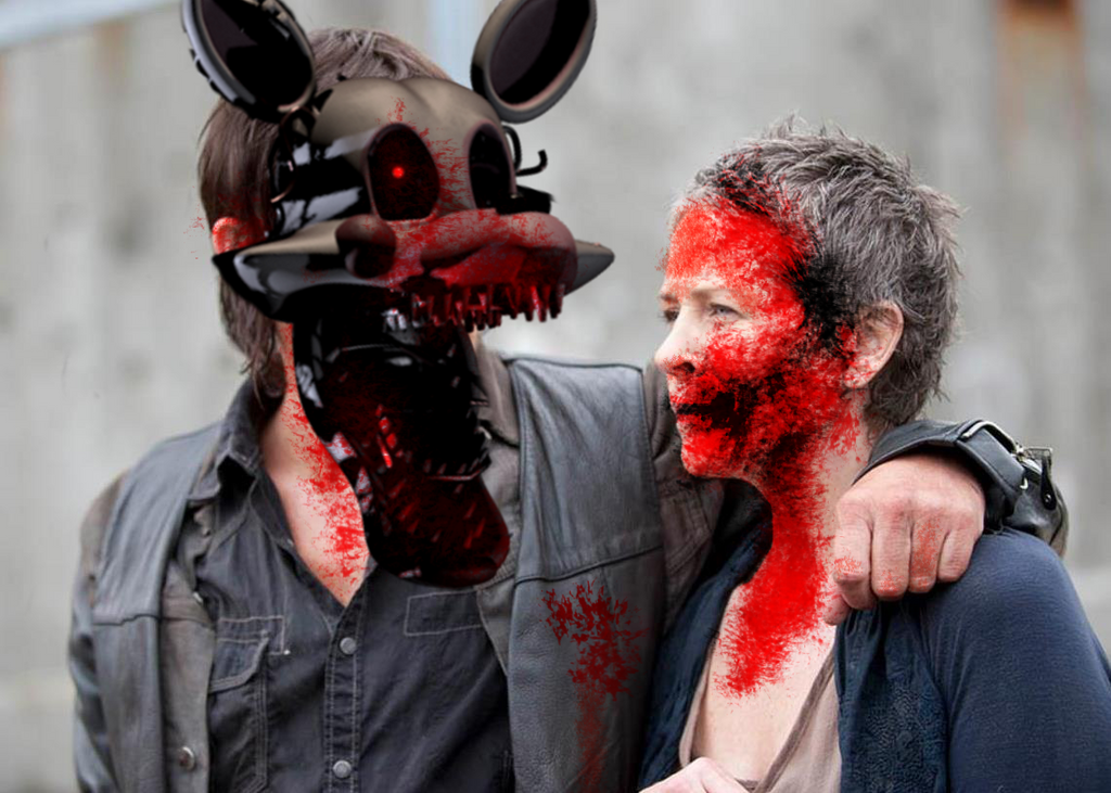 Mangled Dixon eats Friends by Rapono
