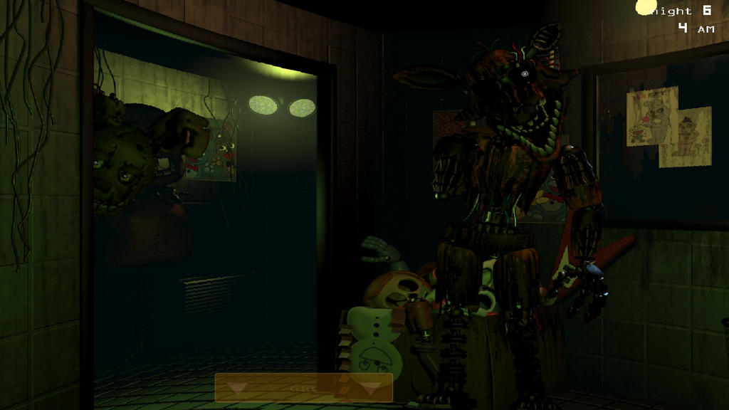 Trapped between Two Jerks - FNAF3 Screenshot by Rapono