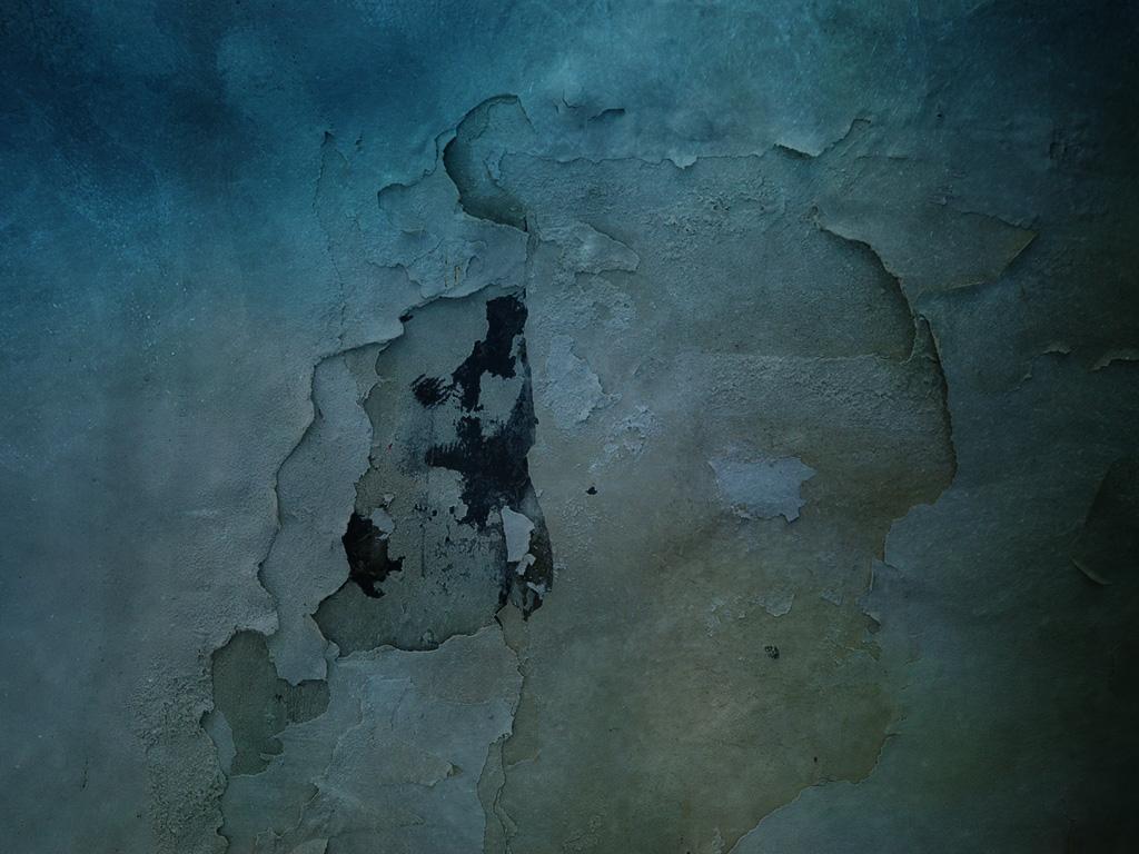 Cracked Blue Wall by diebutterfliege