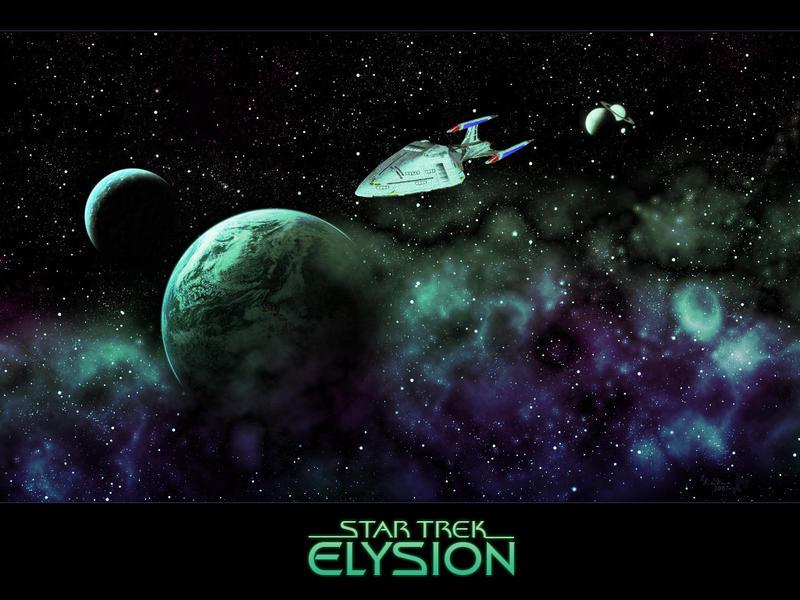 Star Trek Elysion Wallpaper by diebutterfliege