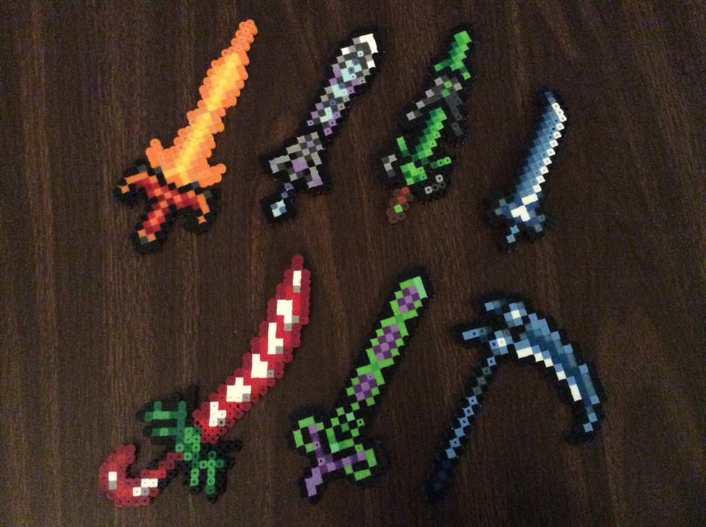 Terraria Swords Perler Art By Dragoniccreations On Deviantart