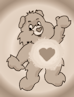 Care bear sepia icon... by Radioheadedlove