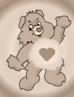 Care bear sepia icon... by Radioheadedlove
