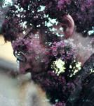 Floral Beard Multiple Exposure