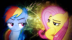 Fluttershy and Rainbow Dash Wallpaper (Collab) by TygerxL