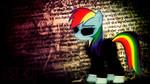 Agent Rainbow Dash Wallpaper