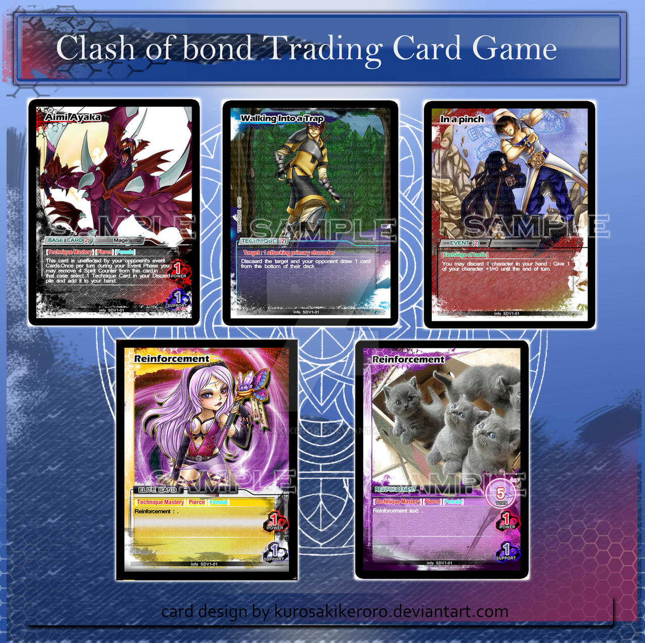 Clash of bond trading card design by KurosakiKeroro on DeviantArt