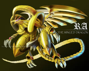 Winged dragon of RA commission by KurosakiKeroro