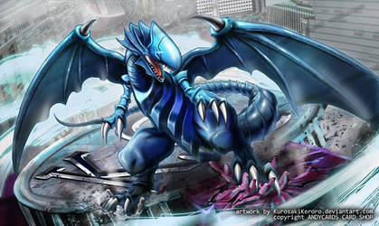 BLUE EYES WHITE DRAGON Playmat Artwork by KurosakiKeroro