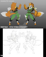 Character Design : Tristan The Fox Concept Color