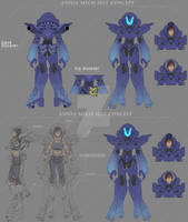 All Amida concept mecha suit