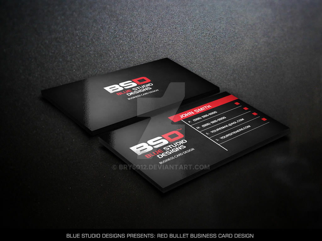 Red Bullet Business Card Design by bry5012 on DeviantArt