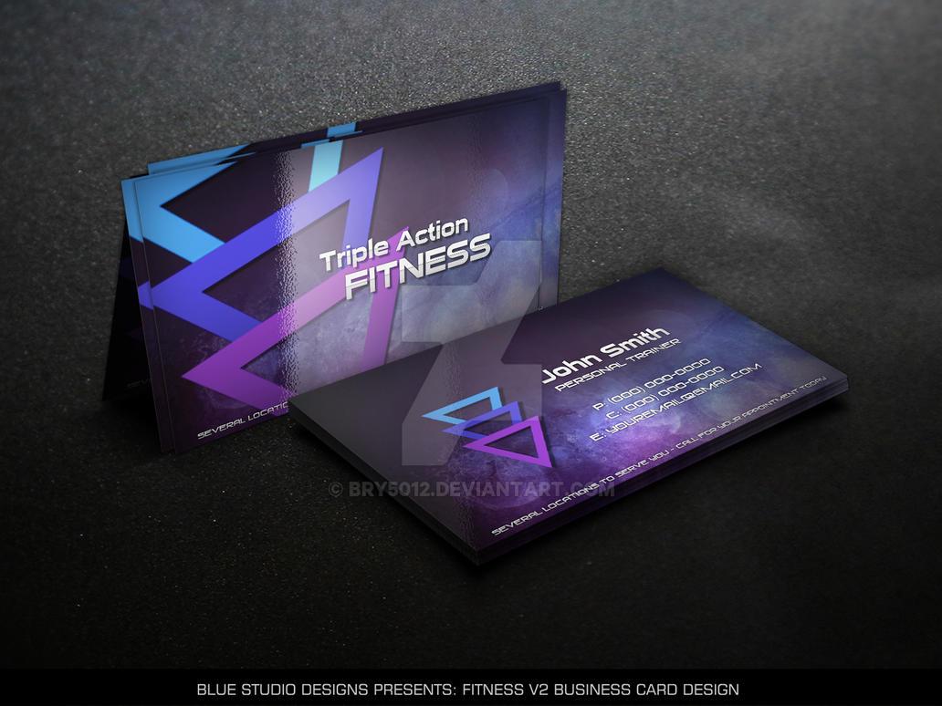 Fitness V2 Business Card Design by bry5012 on DeviantArt