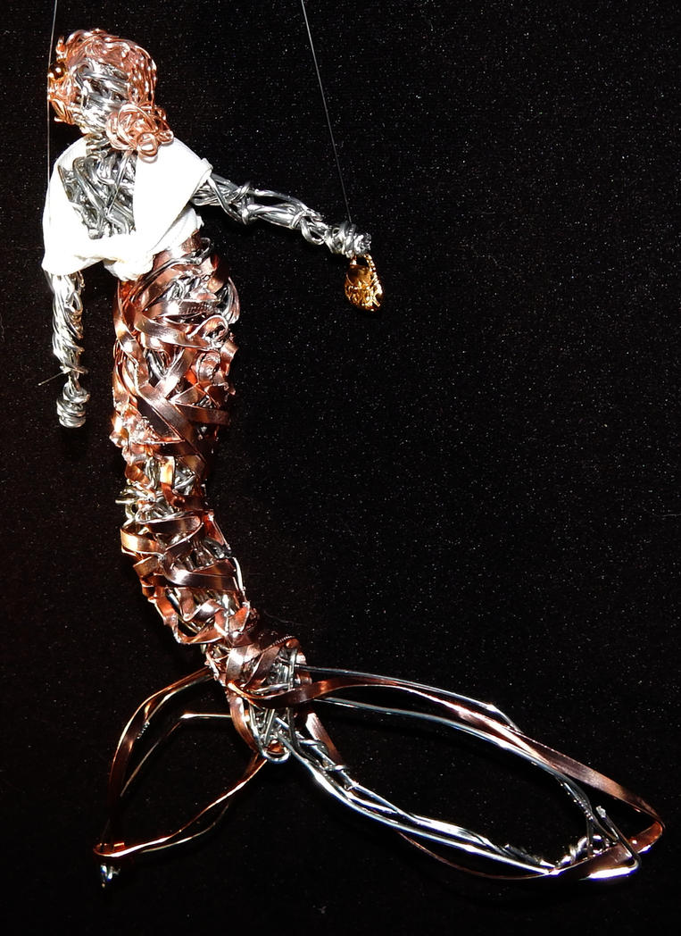 Mermaid ornament fashionista by metalpug