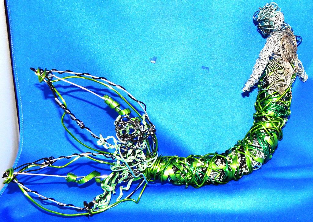 Green mermaid 1 by metalpug