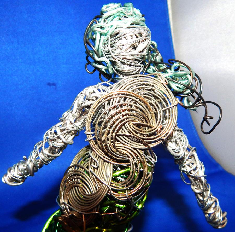 Green or dancing mermaid close up by metalpug