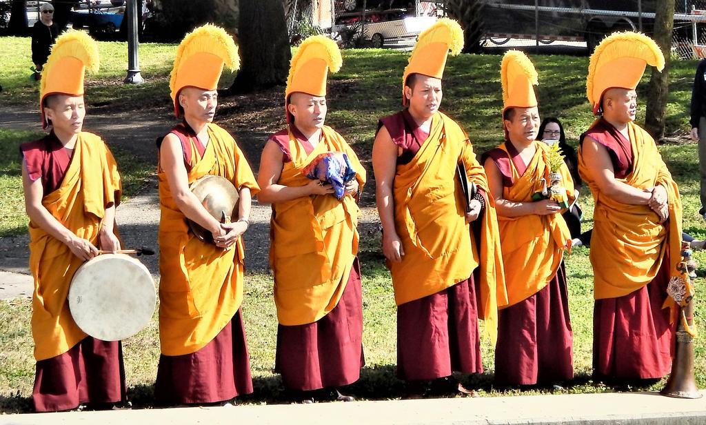 Waterside monks by metalpug
