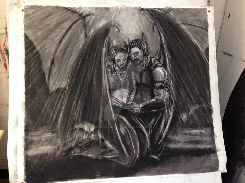 Praying Bat King and Queen by leo-darkheart