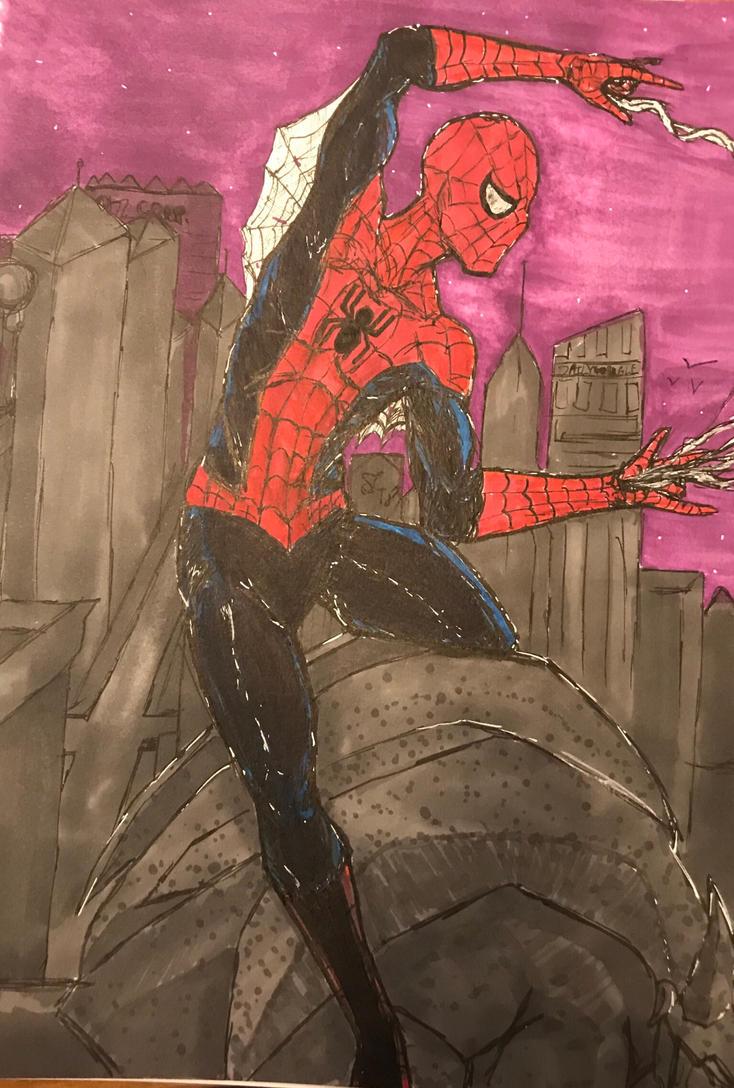 Spider-Man fan art by leo-darkheart