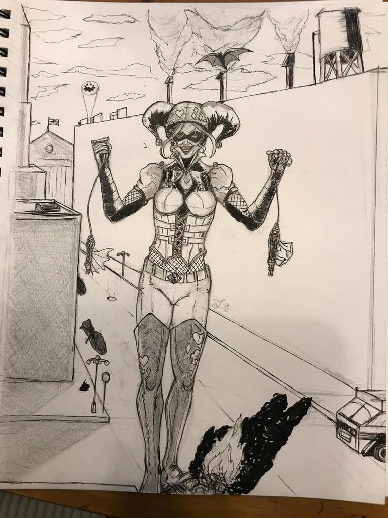 Humongous Harley Inks WIP by leo-darkheart
