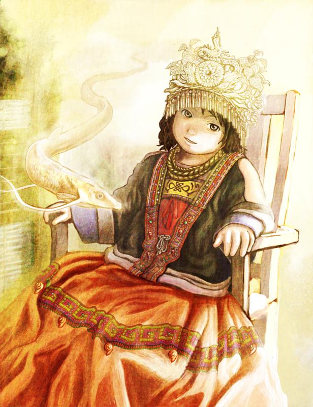 fantasy hmong girl by kumatori123 on DeviantArt Miao People Art