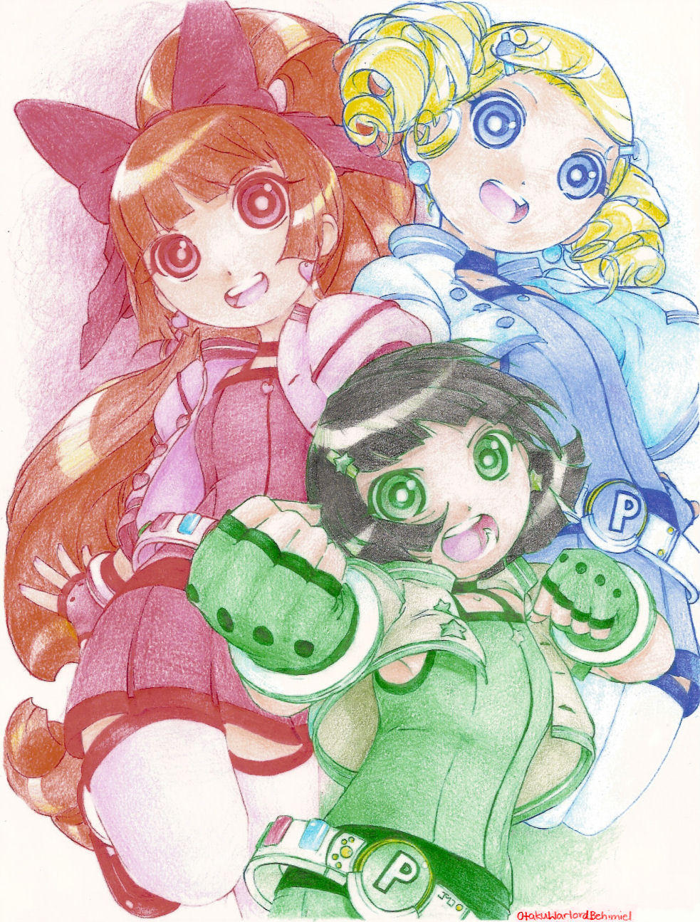 Powerpuff Girls Z by OtakuWarlordBehimiel