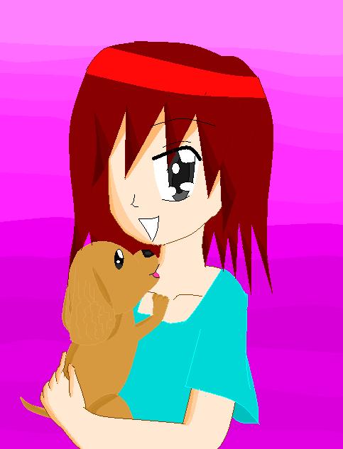 Minako and Her Dog by NatsumeHirai