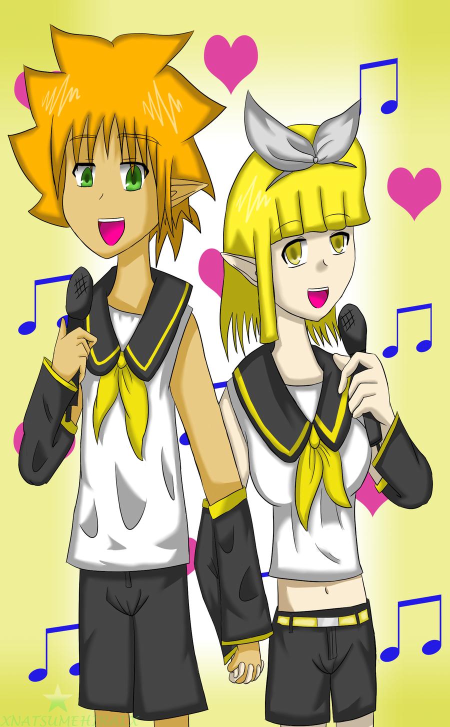 Vocaloids Ryan and Lire by NatsumeHirai