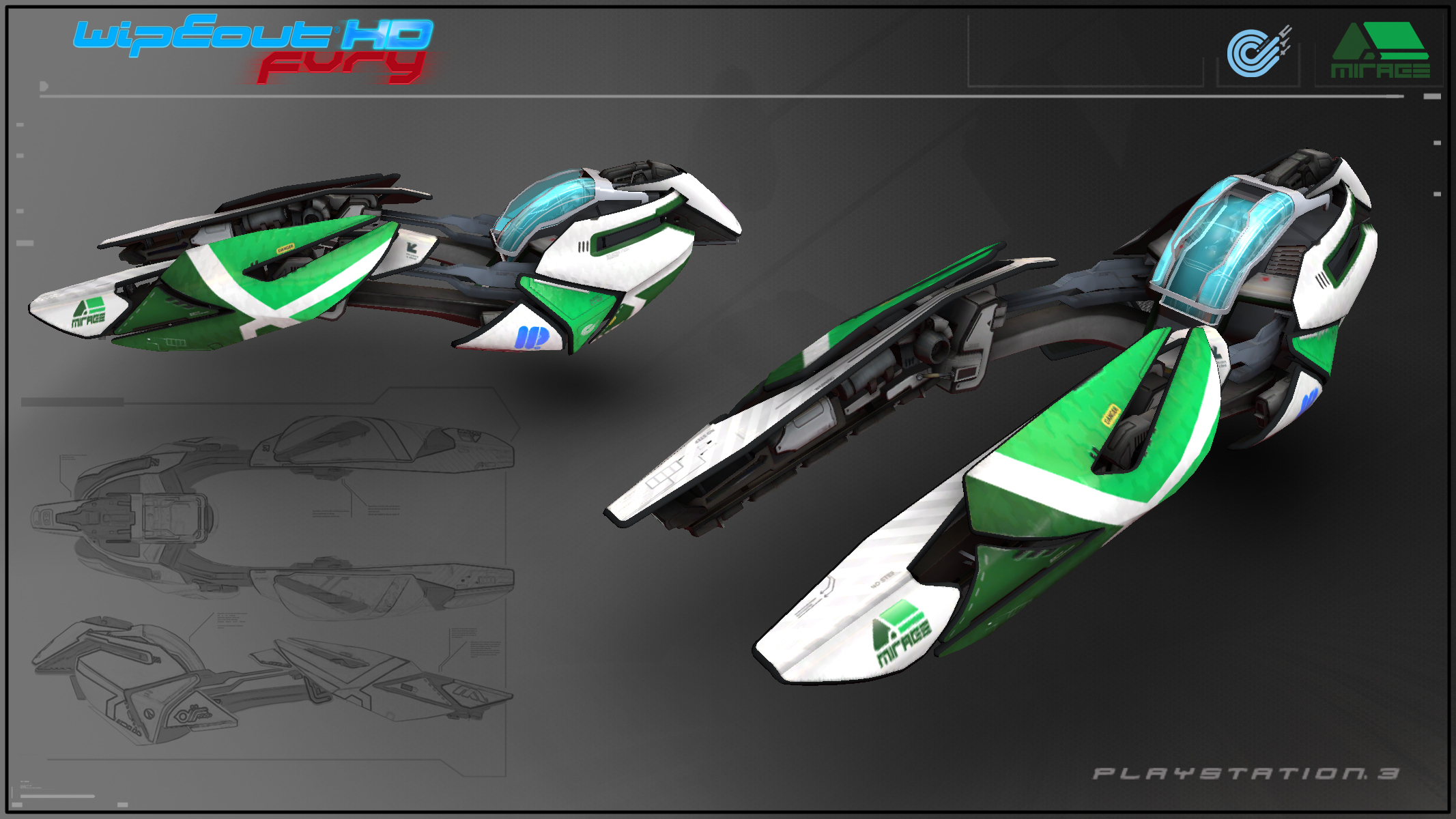 WipEout HD Fury - Mirage by Etch06