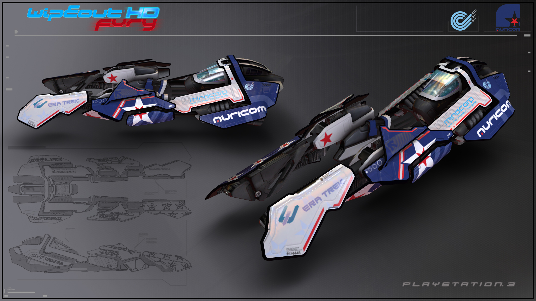 WipEout HD Fury - Auricom by Etch06