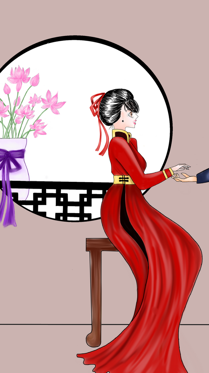 Spring Blossoms (Ao Dai) WIP by Fairywater