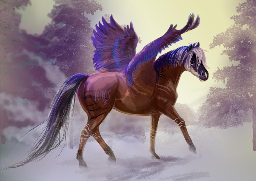 |Commission| Snowy winter by MUSONART