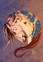Blue Roses by MUSONART