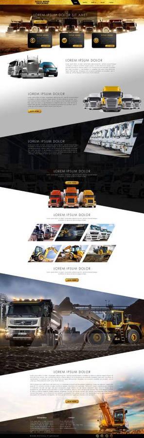 Website design for trucking services