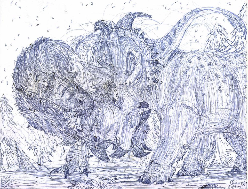 Pachyrhinosaurus vs  Pachyrhinosaurus Vs Albertosaurus