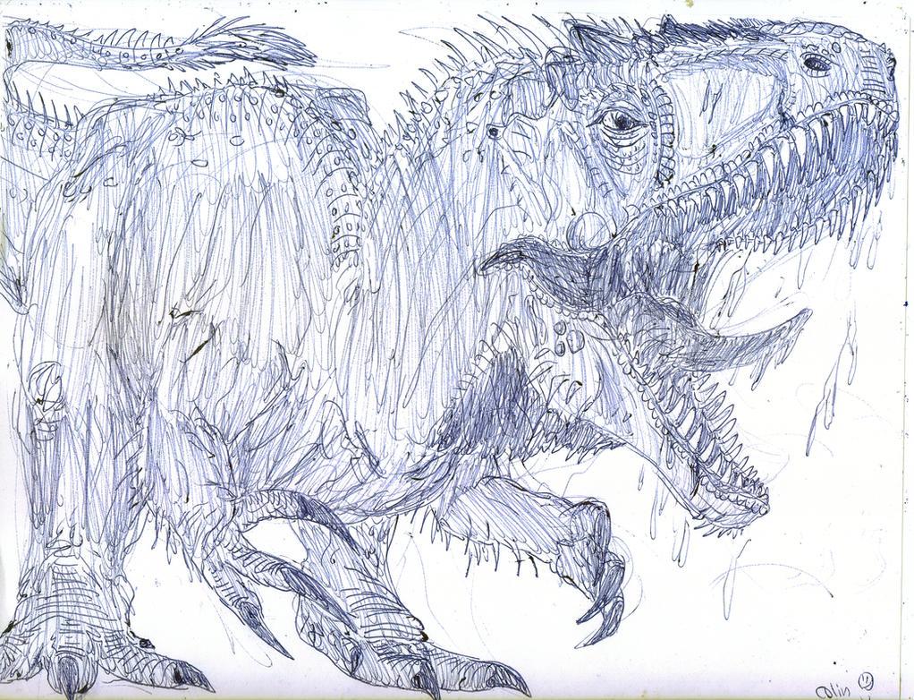 Hybrid Rampage Indominus Rex Coloring Page