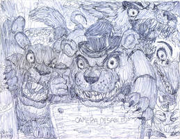 IT'S US!!!!! The Five Nights At Freddy's Gang! by MickeyRayRex