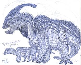 Parasaurolophus by MickeyRayRex