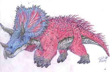 Triceratops Colored For Once! by MickeyRayRex