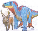 Iguanodon and Red Stag